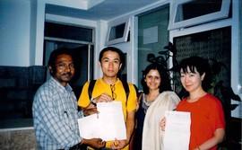 ネパール病院からの感謝状 感謝状をいただきました。