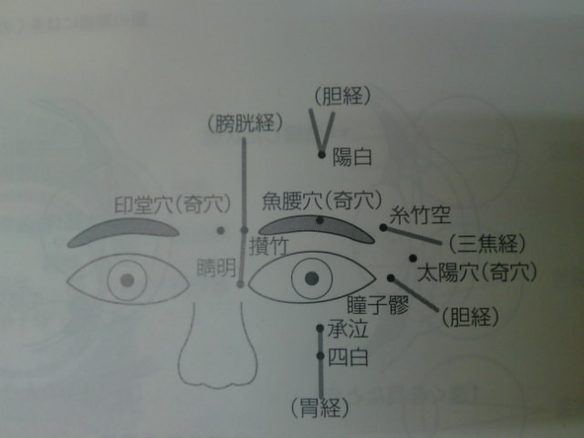 眼周辺のツボのイラスト